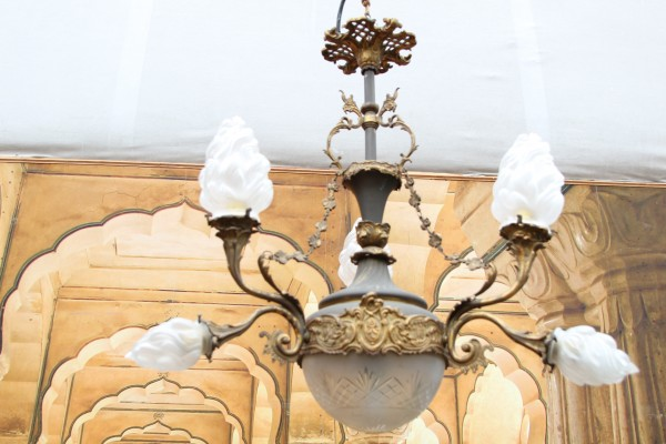 Gründerzeit Lampe - Kronleuchter - Deckenlampe