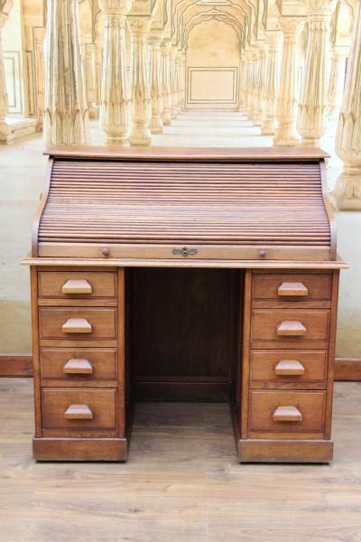 Jugendstil Rollladen Schreibtisch