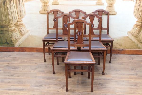 6 Jugendstil Stühle