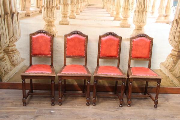 4 Jugendstil Stühle - Hochlehner