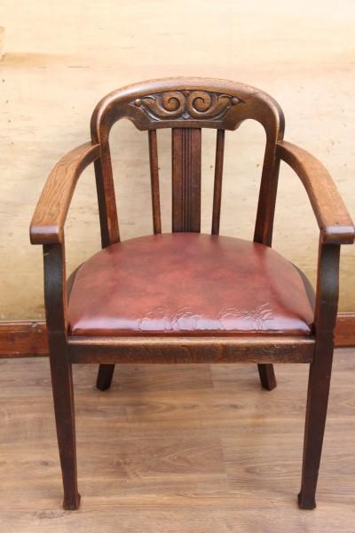Jugendstil Armlehnen-Stuhl - Bürosessel