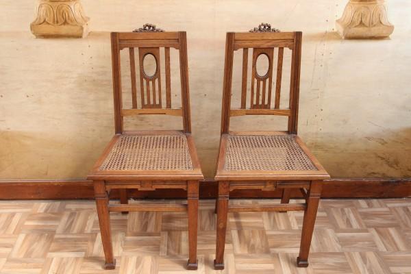 2 Empire - Biedermeier Stühle