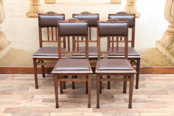 5 Jugendstil Stühle