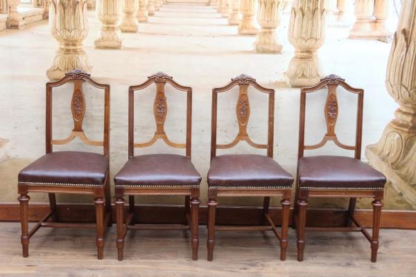 4 Jugendstil Stühle