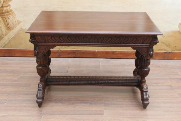 Gründerzeit Schreibtisch-Esstisch Drachenfüße