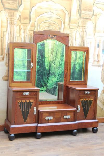 Art Deco Spiegel Kommode