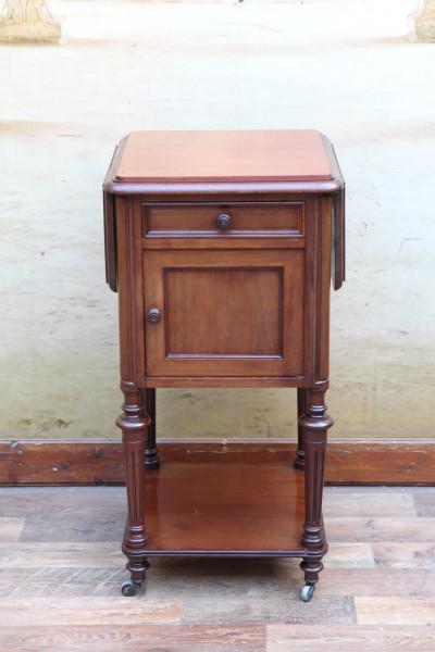 Gründerzeit Nachttisch - Beistelltisch - Klappbar